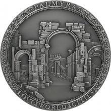 Stříbrná mince Ztracená města světa - Palmýra 2 Oz 2021 Antique Standard