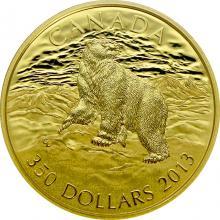 Zlatá mince Polární lední medvěd 2013 Proof (.99999)