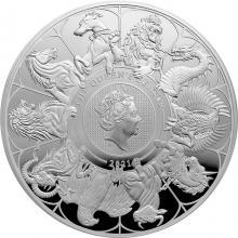 Strieborná minca 5 Oz The Queen´s Beasts 2021 Proof