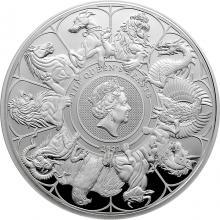 Strieborná minca 10 Oz The Queen´s Beasts 2021 Proof