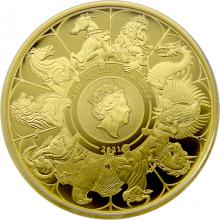 Zlatá mince The Queen´s Beasts 1 Oz 2021 Proof
