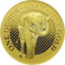 Zlatá minca India Wildlife - Slon 1 Oz 2021