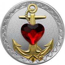 Stříbrná mince Víra, naděje a láska 2021 Krystal Swarovski Proof