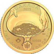 Zlatá investiční mince Zlatá horečka na Klondiku - Rýžování zlata 1 Oz 2021 (.99999)