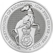 Strieborná investičná minca The Queen´s Beasts The White Greyhound 10 Oz 2022