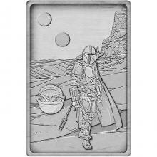 Sběratelská pokovená medaile Star Wars - Mandalorian Antique Standard