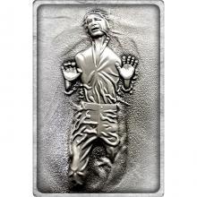 Sběratelská pokovená medaile Star Wars - Han Solo v karbonitu Antique Standard
