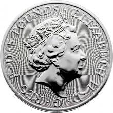 Stříbrná investiční mince The Queen´s Beasts 2 Oz 2021