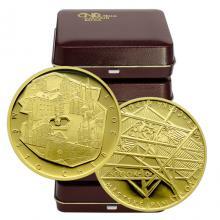 Zlatá minca 5000 Kč Mestská pamiatková rezervácia Cheb 2021 Proof (Odber 5 Ks a viac)