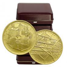 Zlatá minca 5000 Kč Mestská pamiatková rezervácia Cheb 2021 Štandard (Odber 5 Ks a viac)
