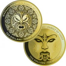 Whanau Marama - Family of Light - Sada zlatých mincí 2021 Proof