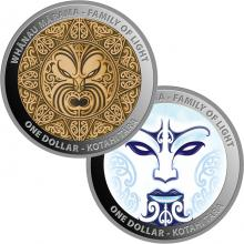 Whanau Marama - Family of Light - Sada stříbrných kolorovaných mincí 2021 Proof