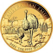 Zlatá investiční mince Emu 1 Oz 2021