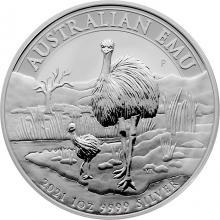 Stříbrná investiční mince Emu 1 Oz 2021