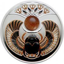 Strieborná minca Skarabeus Slnečný kameň 2021 Proof