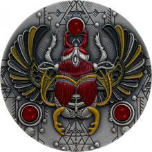 Strieborná minca Skarabeus Rubín 2 Oz 2021 Antique Štandard