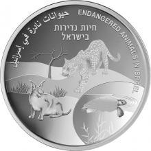 Stříbrná mince Ohrožená zvířata Izraele - 73. výročí Dne nezávislosti Státu Izrael 2021 Proof