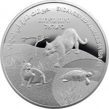Strieborná minca Ohrozené zvieratá Izraela - 73. výročie Dňa nezávislosti štátu Izrael 2021 Proof