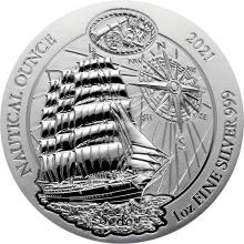 Strieborná investičné minca Sedov - Nautical ounce 1 Oz 2021