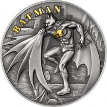 Strieborná minca DC Comics Collection - Batman 2 Oz 2021 Antique Standard