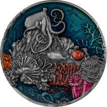 Stříbrná mince Korálový útes 2 Oz 2021 Antique Standard