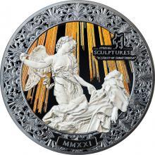 Strieborná minca 5 Oz Večné sochy - Extáza svätej Terézie Ultra vysoký reliéf 2021 Proof