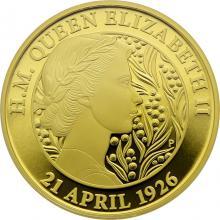 Zlatá mince 2 Oz 95. narozeniny Jejího Veličenstva královny Alžběty II. 2021 Proof