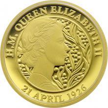 Zlatá mince 95. narozeniny Jejího Veličenstva královny Alžběty II. 1/4 Oz 2021 Proof