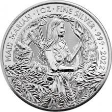 Stříbrná investiční mince Mýty a legendy - Panna Mariana 1 Oz 2022