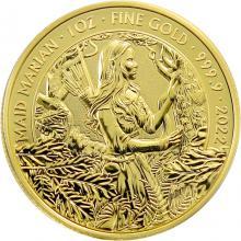 Zlatá investiční mince Mýty a legendy - Panna Mariana 1 Oz 2022