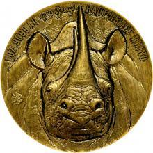 Zlatá mince Nosorožec The African Big Five High Relief 1 Oz 2021 Antique Standard