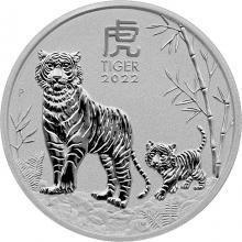 Stříbrná investiční mince Year of the Tiger Rok Tygra Lunární 1/2 Oz 2022