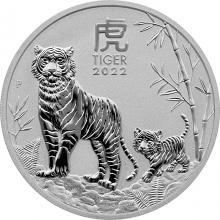 Stříbrná investiční mince Year of the Tiger Rok Tygra Lunární 1 Oz 2022
