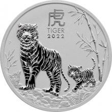 Stříbrná investiční mince Year of the Tiger Rok Tygra Lunární 2 Oz 2022