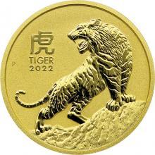 Zlatá investiční mince Year of the Tiger Rok Tygra Lunární 1 Oz 2022