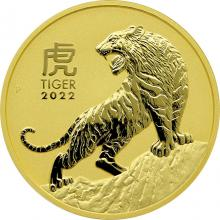 Zlatá investiční mince Year of the Tiger Rok Tygra Lunární 10 Oz 2022