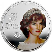 Postriebrená kolorovaná medaila Lady Diana