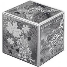 Strieborná minca kocka 1 kg Najznámejší Investičné mince 2022 Antique Štandard