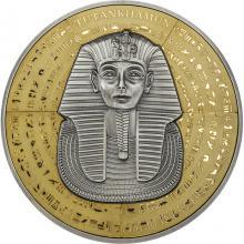 Stříbrná pozlacená mince Tutanchamon 500 g 2022 Antique Standard