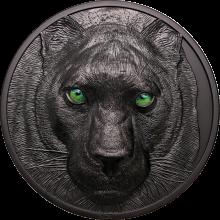 Strieborná minca 1 kg Lovci v noci - Čierny panter Ultra High Relief 2021 Proof