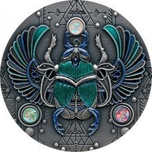 Stříbrná mince Skarabeus Křišťál 2 Oz 2021 Antique Standard