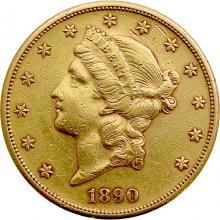 Zlatá minca American Double Eagle Liberty Head 1890