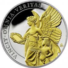 Strieborná pozlátená minca Cnosti kráľovnej - Pravda 1 Oz 2021 Proof