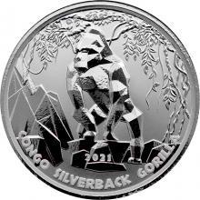 Stříbrná investiční mince Kongo Gorila 1 Oz 2021