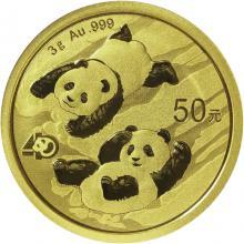 Zlatá investičná minca Panda 3g 2022