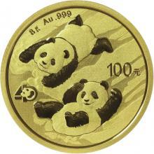 Zlatá investičná minca Panda 8g 2022