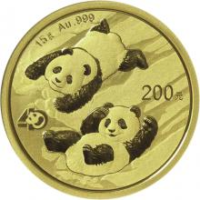 Zlatá investičná minca Panda 15g 2022
