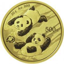 Zlatá investičná minca Panda 30g 2022