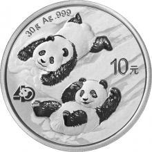 Strieborná investičná minca Panda 30g 2022