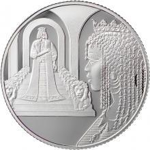 Stříbrná mince Král Šalamoun a královna ze Sáby 2 NIS Izrael Biblické umění 2021 Proof